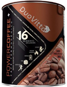 PowerCoffee+ Café Termogênico - 16 Ingredientes - Sabor: Chocolate Belga 300g