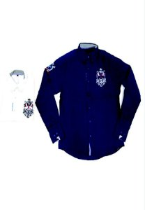 3750005-Camisa Mg Longa Jeans/Tricoline