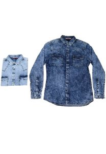 3750026-Camisa Mg Longa Jeans