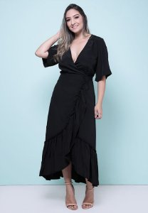 3750144-Vestido Longo  Crepe