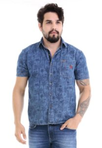 1758650-Camisa Mg Curta Jeans