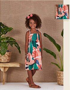 5750006-Vestido Kids c/ Bolsa Crepe
