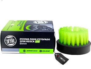 "ESCOVA DE ESTOFADOS SPIN 5/8"" VERDE AGRESSIVA 80MM FOR DETAIL"