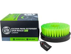 "ESCOVA DE ESTOFADOS SPIN 5/8"" VERDE AGRESSIVA 120MM FOR DETAIL"