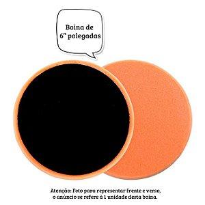 """BOINA DE ESPUMA LARANJA 6"""" DUNE S/ EMBALAGEM"""