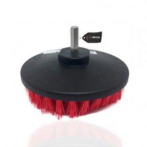 Escova de Limpeza Drill 5'' para Furadeira Super Agressiva Vermelha Kers