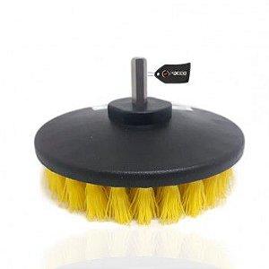 Escova de Limpeza Drill 5'' para Furadeira Agressiva Amarela Kers