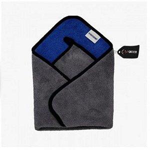 Toalha de Microfibra 40cm x 40cm 600GSM Azul/Cinza Vonixx