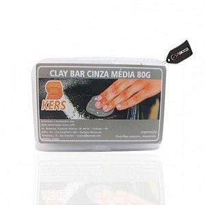 Clay Bar Cinza Médio Kers 80g