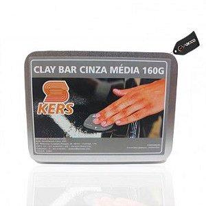 Clay Bar Cinza Médio 160g Kers