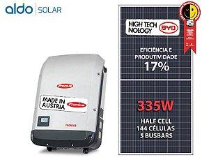 GERADOR DE ENERGIA SOLAR FRONIUS GEF 2,68KWP BYD POLI HALF CELL PRIMO 3KW 2MPPT MONO 220V ONDULADA ROMAGNOLE ALDO SOLAR ON GRID