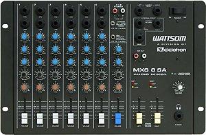 Mesa De Som Ciclotron Stereo 8 Canais Mxs 8 Sa Wattsom