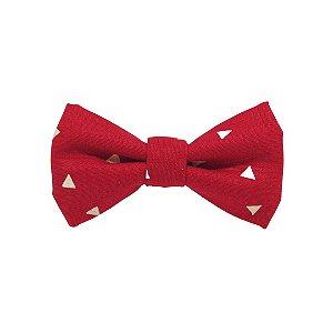 Gravata borboleta vermelha nachos