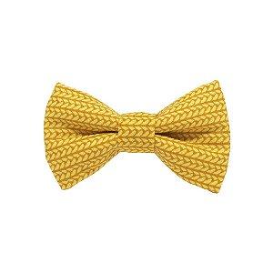 Gravata borboleta tricot mostarda