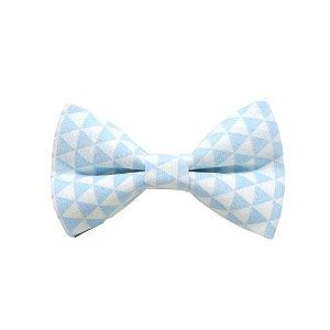 Gravata borboleta triângulos azul bebê