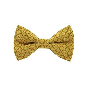 Gravata borboleta casquinha amarela