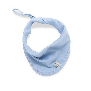 Babeiro toalha de boca basic azul claro