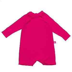 Macacão curto FPS50+ rosa pop
