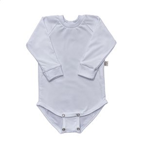 Body manga longa extensível térmico branco