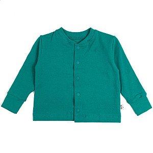 Cardigan basic verde