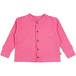 Cardigan basic rosa