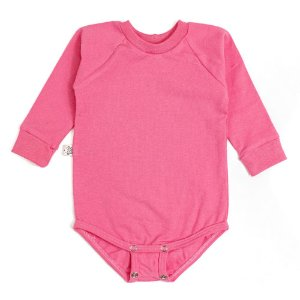 Body manga longa extensível rosa