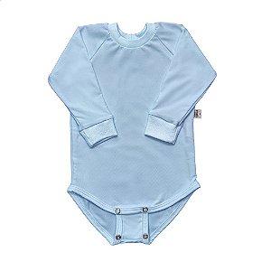 Body manga longa extensível térmico frozen blue