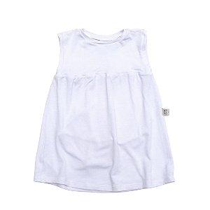 Body vestido modal branco