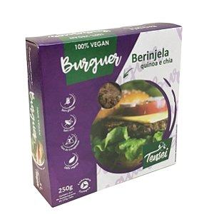 Hambúrguer Vegano de Berinjela Quinoa e Chia