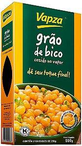 Grão de bico cozido orgânico 250g Vapza