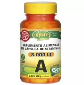 Vitamina A 8.000 UI - 60  cápsulas