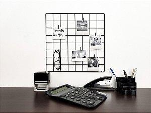 Memory board 40x40cm Grid Aramado + 10 pregadores