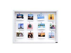 Quadro de fotos varal 40x55cm + 10 pregadores