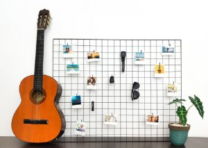 Memory board 80x100cm + 20 Fotos Polaroids + 20 pregadores