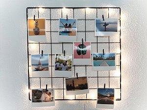 KIT SAFIRA (Fio fada Led + Memory Board 40 x 40 + 10 fotos + 10 pregadores)
