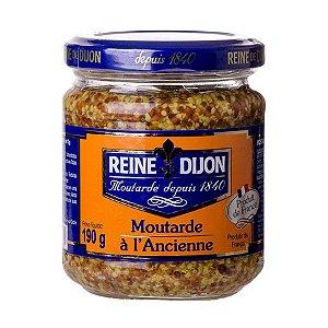 Mostarda Francesa Reine de Dijon à l'Ancienne 190g