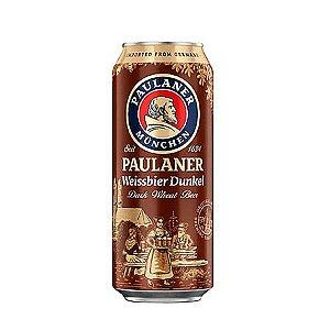 Cerveja Alemã Paulaner Weissbier Dunkel Lata 500ml