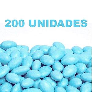 Amêndoa Confeitada Azul Bebê 200 unidades