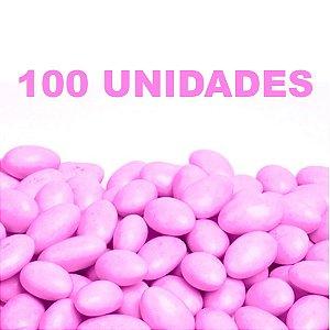 Amêndoa Confeitada Rosa 100 unidades