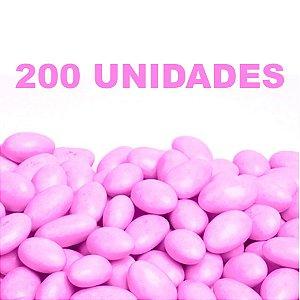 Amêndoa Confeitada Rosa 200 unidades