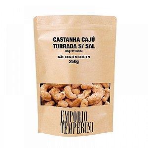 Castanha Cajú Torrada Sem Sal Tipo Exportação Premium 250g