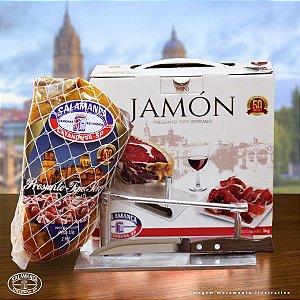 Kit Mini Jamon Sem Osso Cura 12M + Suporte de Alumínio + Faca