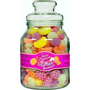 Pote de Vidro com Balas de Frutas Sortidas Sweet Originals
