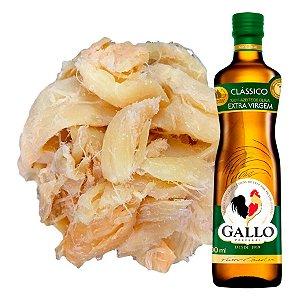 1kg Bacalhau Porto Lascas S/ Pele e Espinha + 1 Azeite Gallo EV