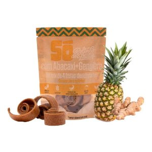 Snack Vegano - Rolinho de Frutas - Abacaxi e Gengibre 30g