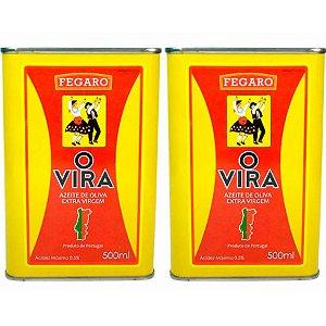 2 Latas Azeite Extra Virgem Português O Vira 0,5% 500ml