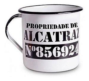 Caneca De Metal Esmaltada Alcatraz 300ml