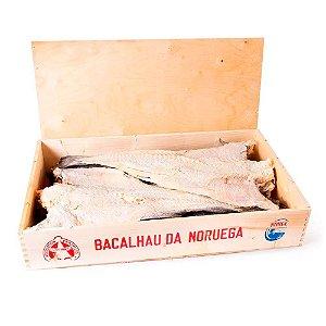 Bacalhau Gadus Morhua Legítimo Porto Caixa Madeira 50kg