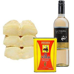 Kit Páscoa 2: Lombo de Bacalhau + Azeite Português + Vinho Branco