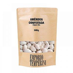 Amêndoas Confeitadas Brancas Premium 500g